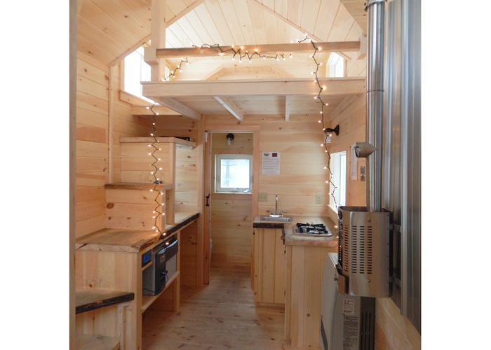 8x16 charlvail four season tiny house built for off grid on grid living - Tiny House Stairs 2