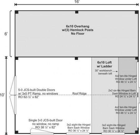 10x16 Hobby House - Rendering