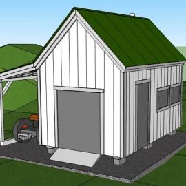 10x16 Hobby House - Exterior