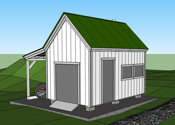 10x16 Shed Board And Batten Shed Plans