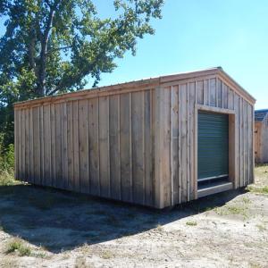 14x20-Barn-Garage-green-door-inventory-display-model-discounted
