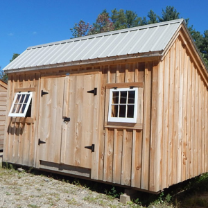 8x14 Saltbox - Ash Gray Roof