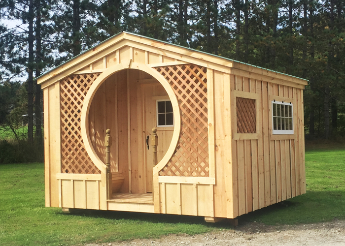 Wood cabin kits prefab small cabins for Complete barn home kits