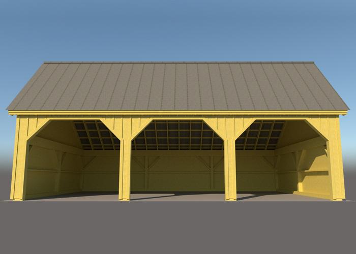 24x36 pole barn farm equipment storage shed for 24x36 garage kit