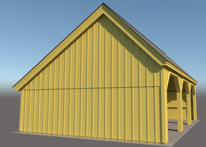 24x36 pole barn farm equipment storage shed for 3 bay shed