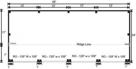 24x48 Equipment Shed Floor Plan