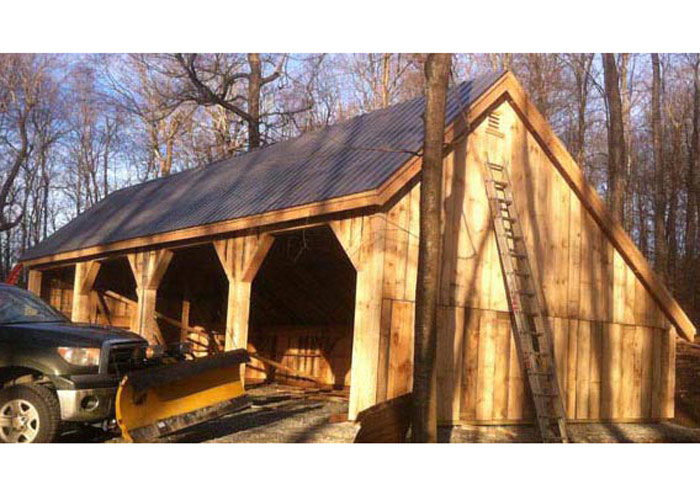 24x36 pole barn farm equipment storage shed for Saltbox barn
