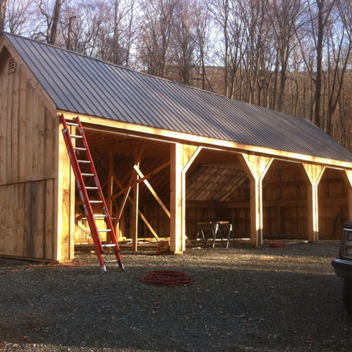 24x36 pole barn farm equipment storage shed for Farm shed ideas