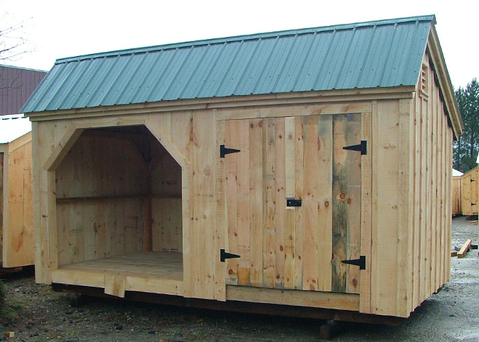 Large shed plans shed with wood storage wooden storage for Large shed plans