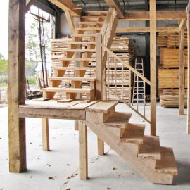 20x30-garage-barn-stairs-post-beam-kit-option-upgrade
