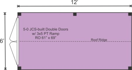6x12 Nantucket Option B Floor Plan