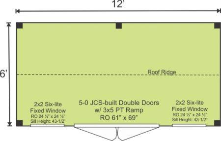6x12 Nantucket - Standard Option