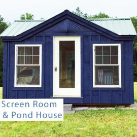 Screen Room & Pond House