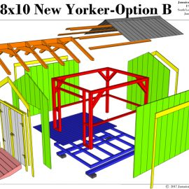 8x10 New Yorker B - Exploded View